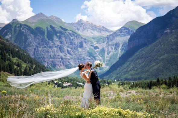 Jenny and Hart's beautiful rustic mountain wedding in Telluride, Colorado