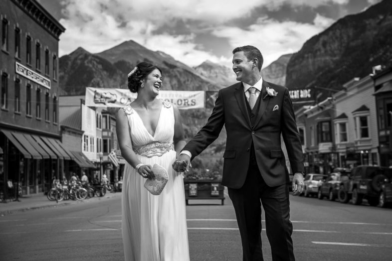 Joe and Dara's beautiful Fall wedding at the Peaks Resort and Spa in the mountains of Telluride, Colorado.