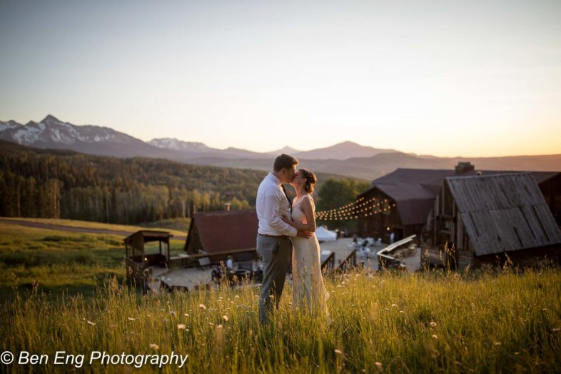 Mike and Christy's rustic Colorado wedding at Gorrono Ranch in Telluride.