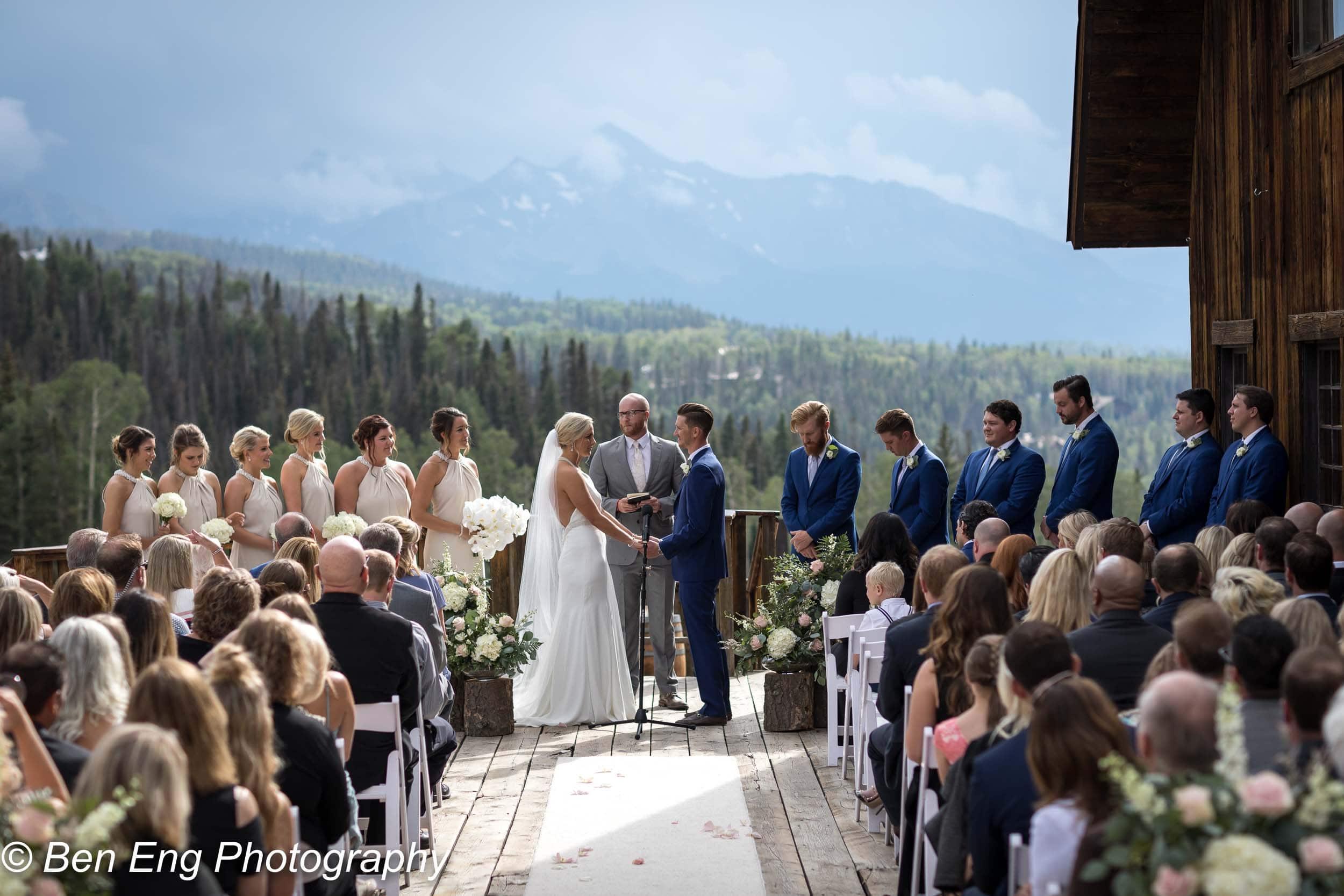 Rustic destination wedding at Gorrono Ranch in the mountains of Telluride, Colorado.