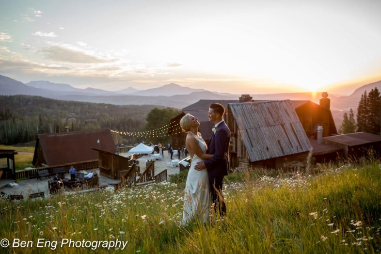 Rustic destination wedding at Gorrono Ranch in the mountains of Telluride, Colorado.