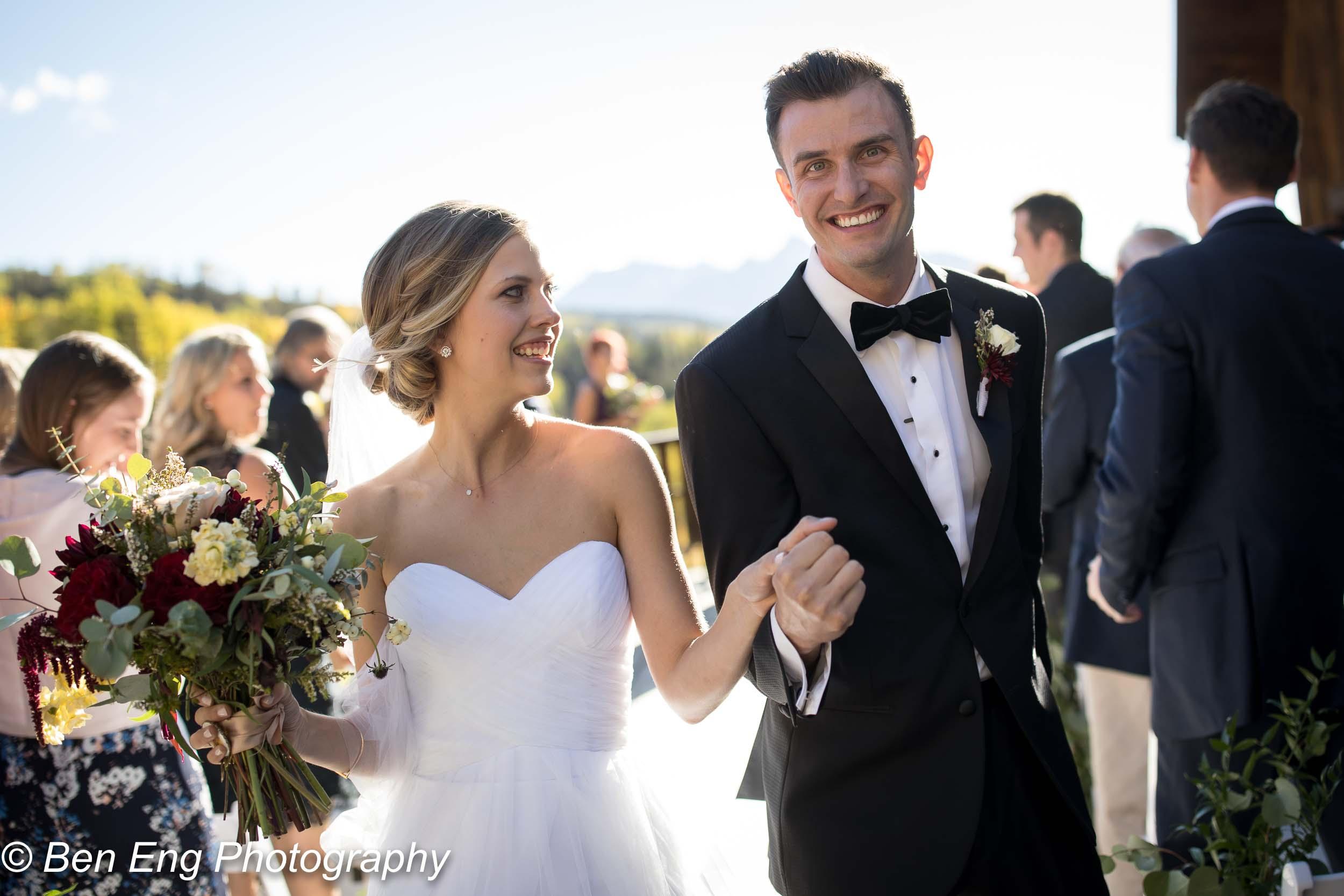 Destination wedding in Telluride, Colorado.