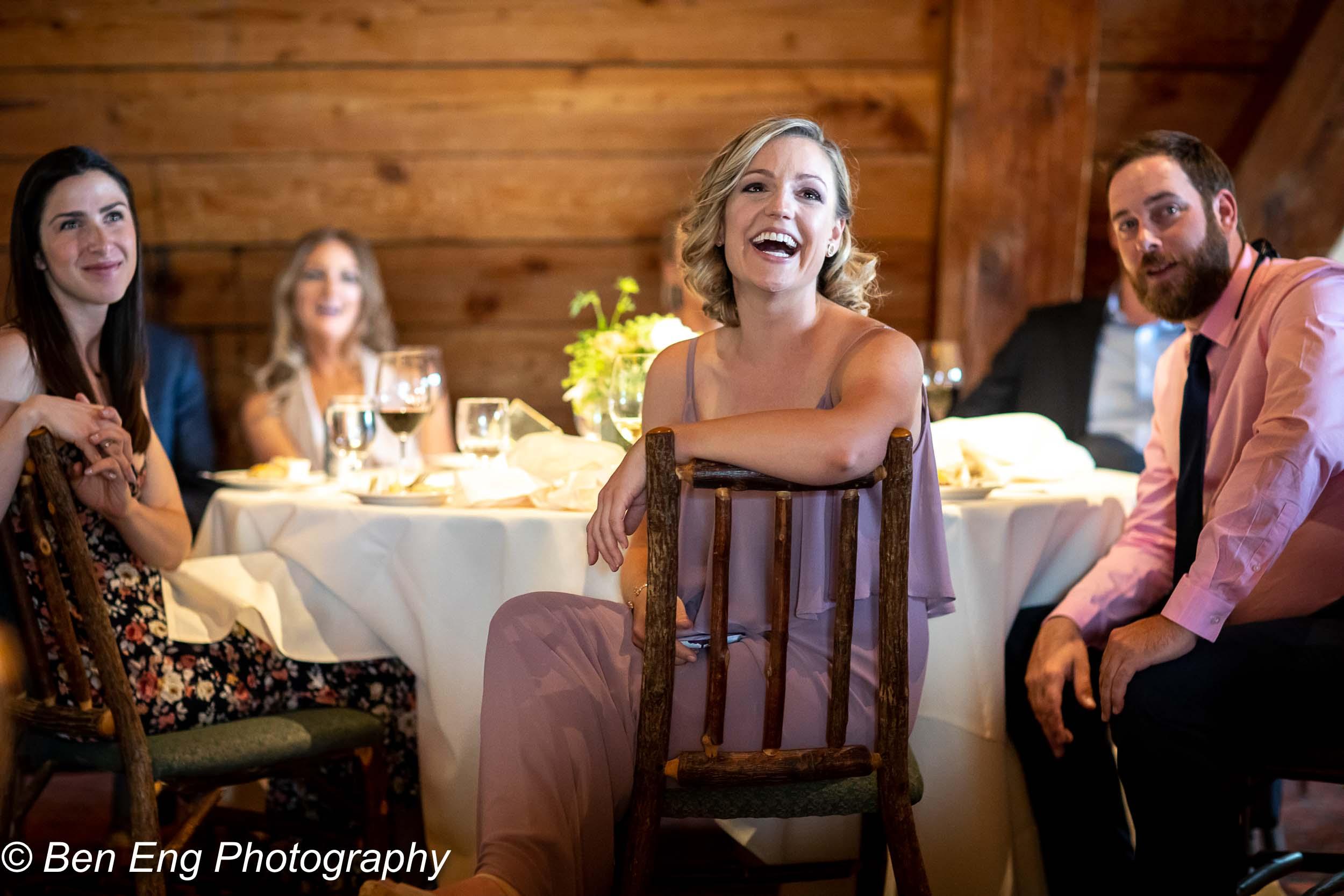 Bridesmaid at the reception
