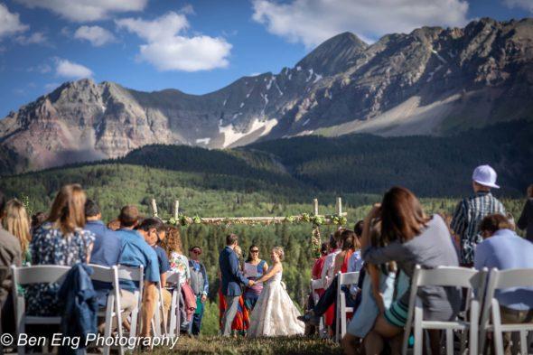 wedding ceremony under mt Wilson