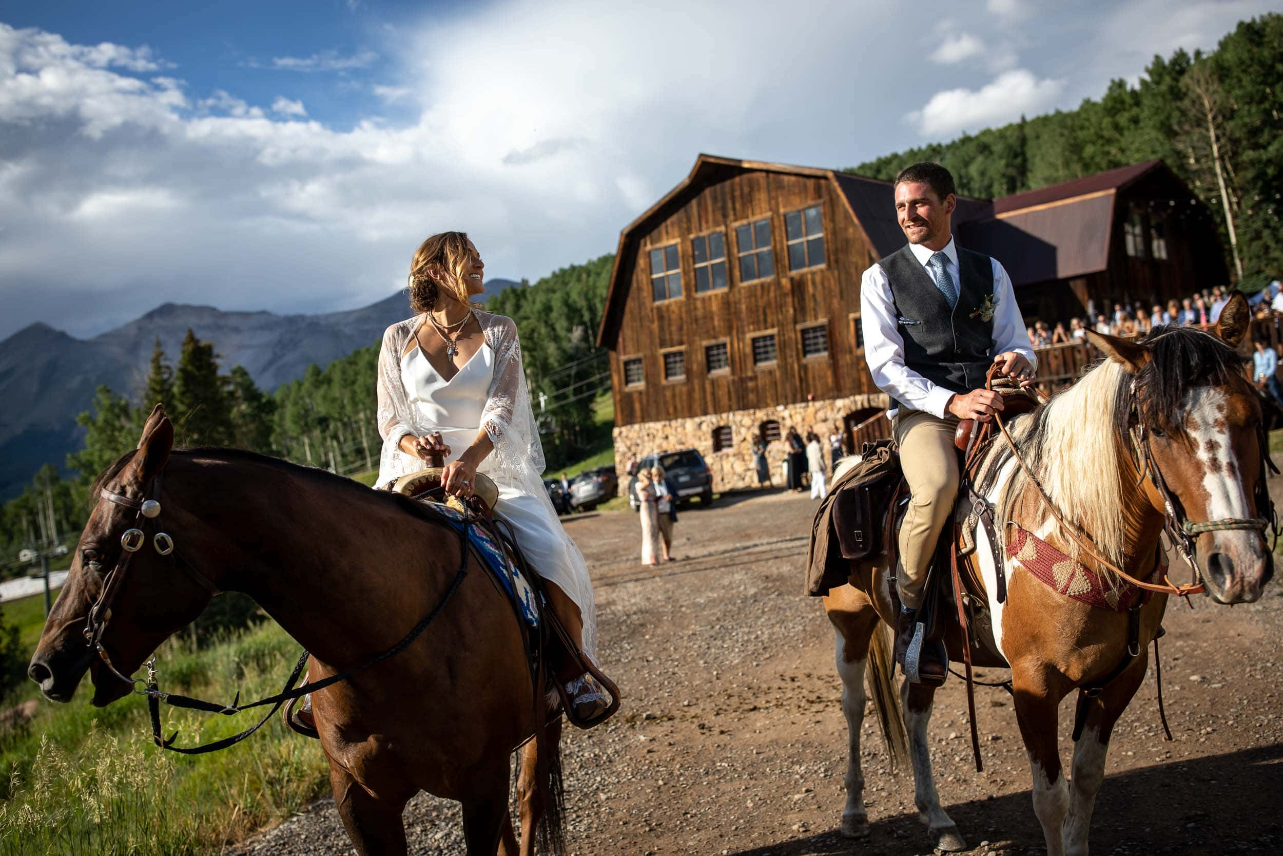 Matty and Alexis's beautiful wedding in the mountains of Colorado.
