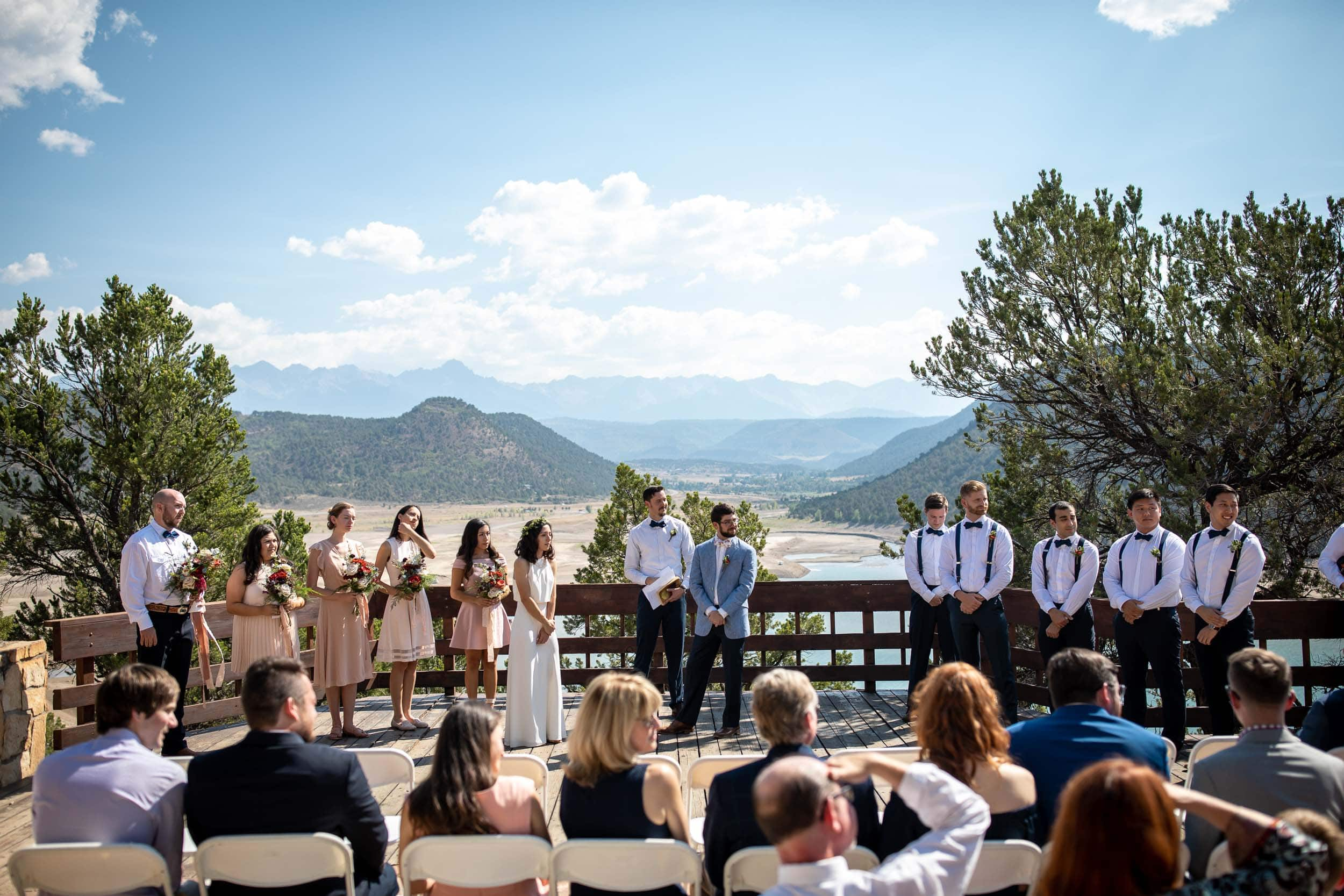 wedding ceremony at Ridgway state park