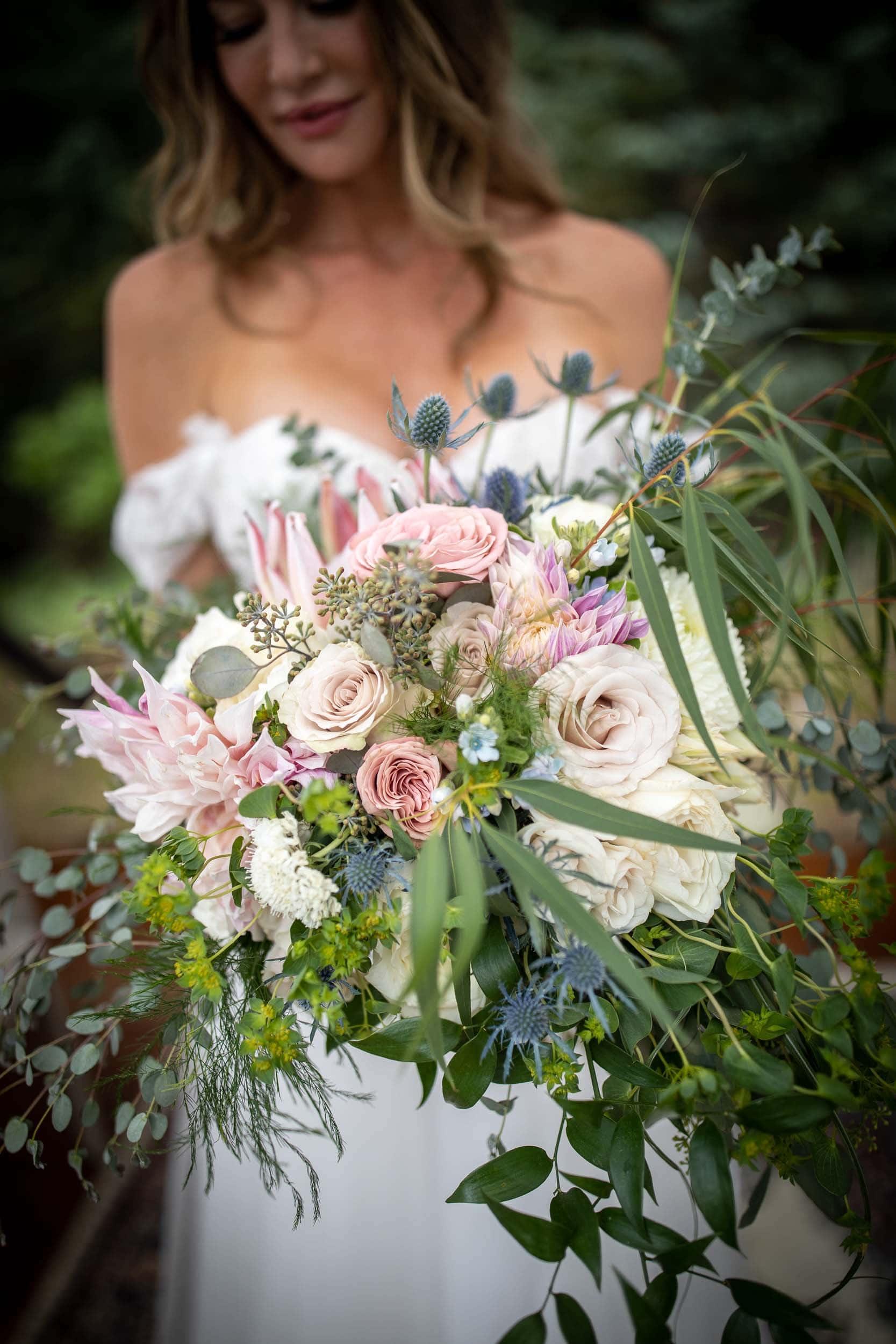 brides bouquet from Aprils Garden in Durango, CO
