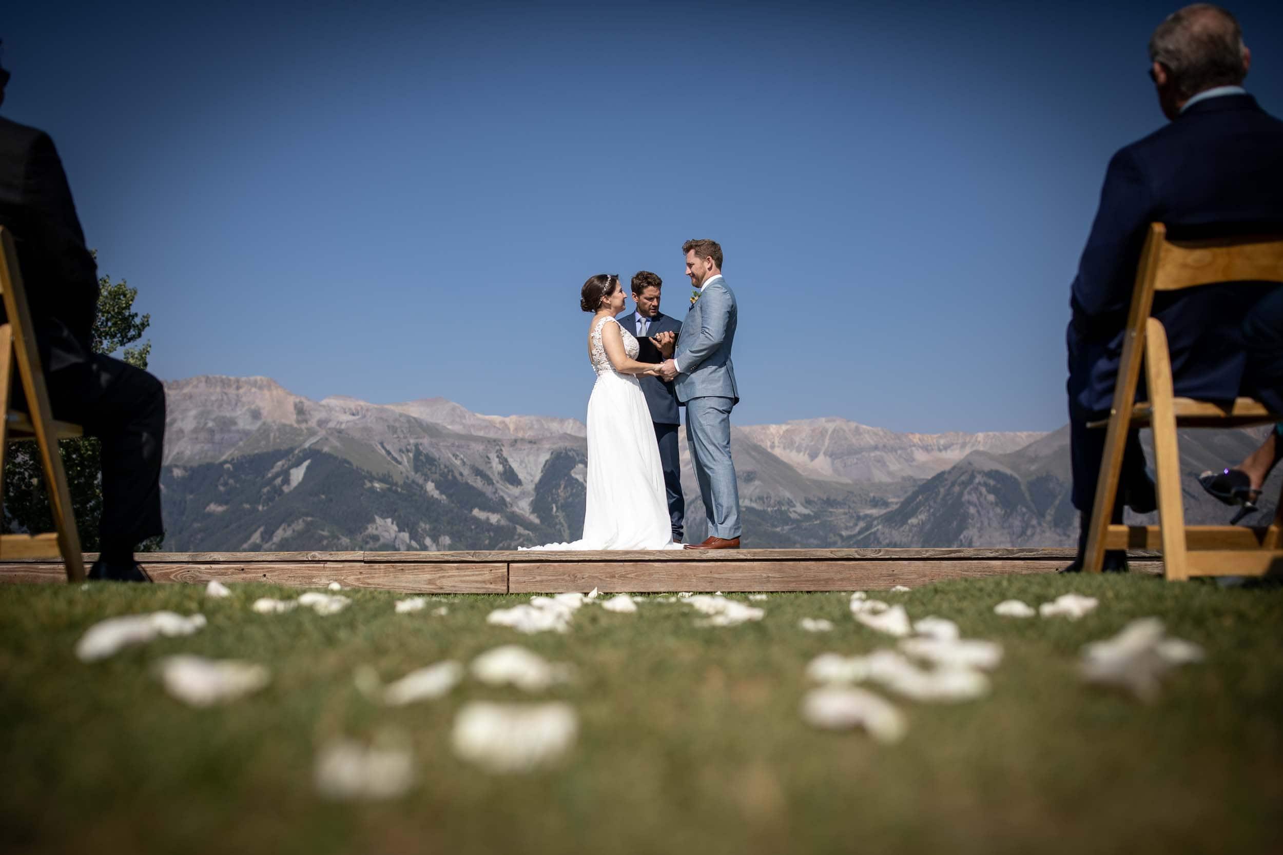 exchanging vows at san Sophia
