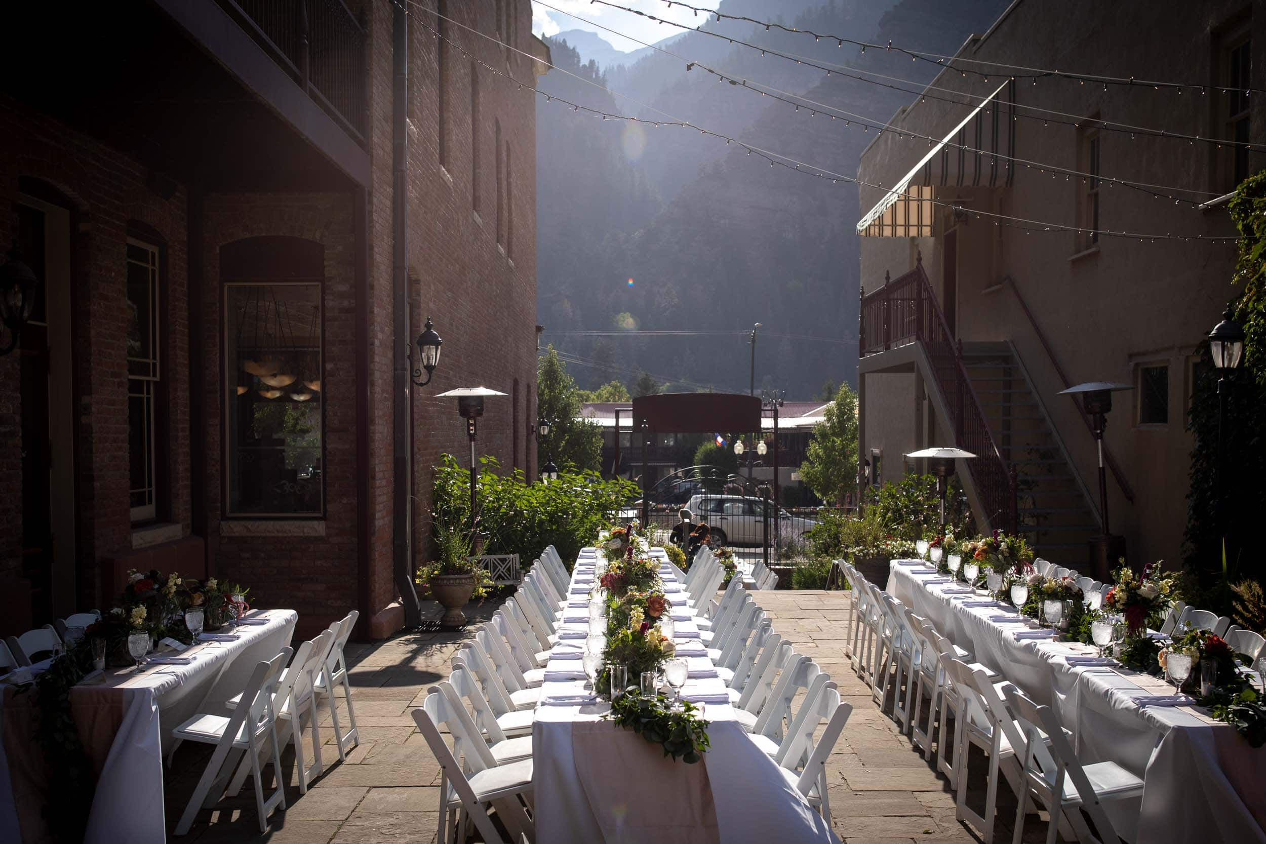 Wedding reception at the Beaumont Hotel in Ouray, CO