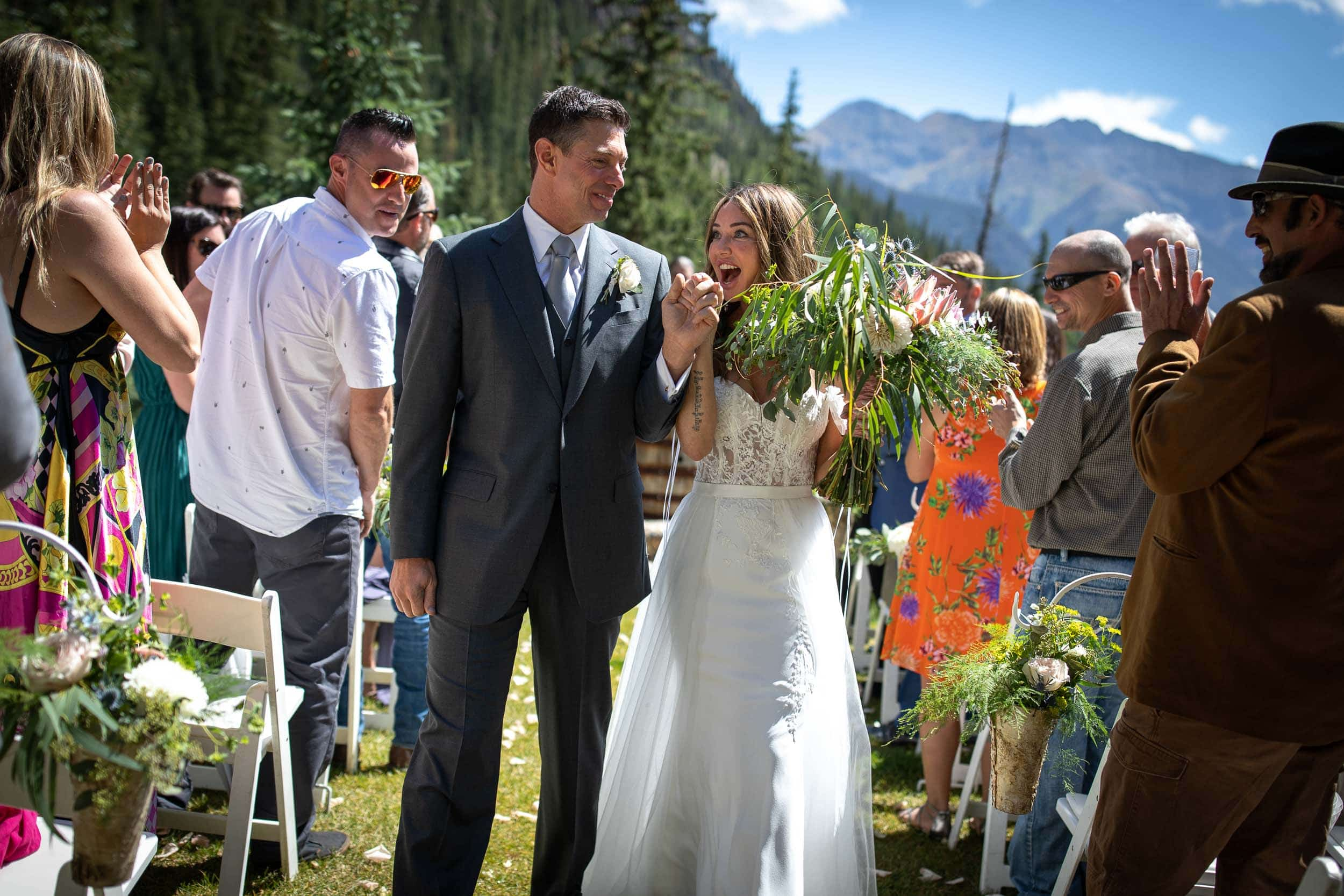 Wedding at the Eureka Lodge in Silverton, CO