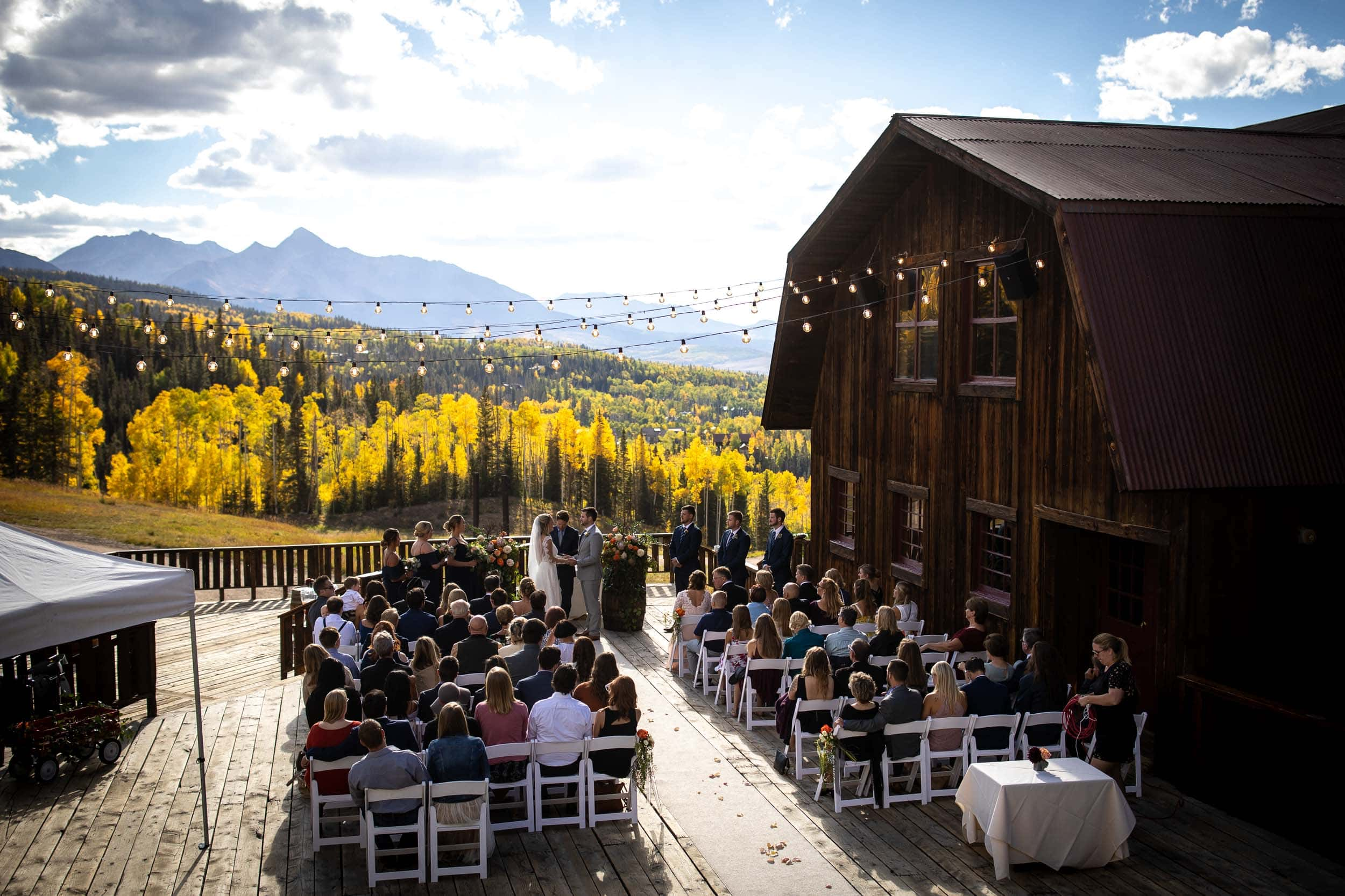Joakim and Becka's beautiful fall wedding in the mountains of Colorado