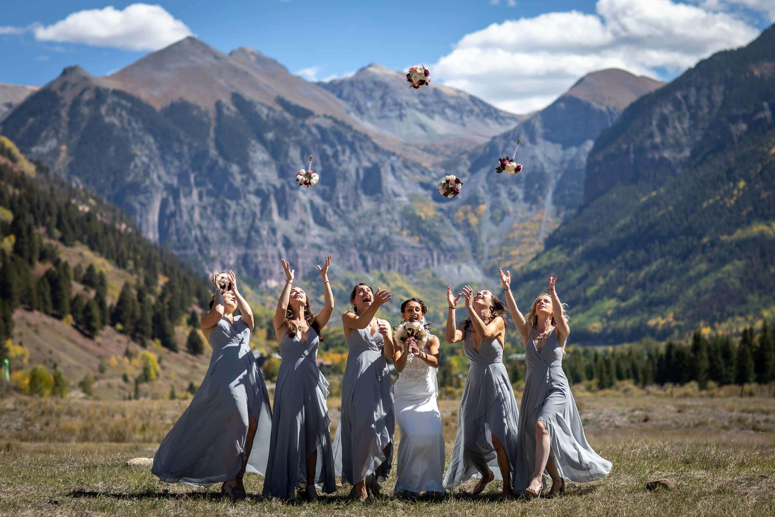 Brett and Maggies beautiful Colorado wedding at the Schmid Ranch outside of Telluride where Quentin Tarantino's Hateful Eight movie was filmed. Image by Ben Eng Photography.