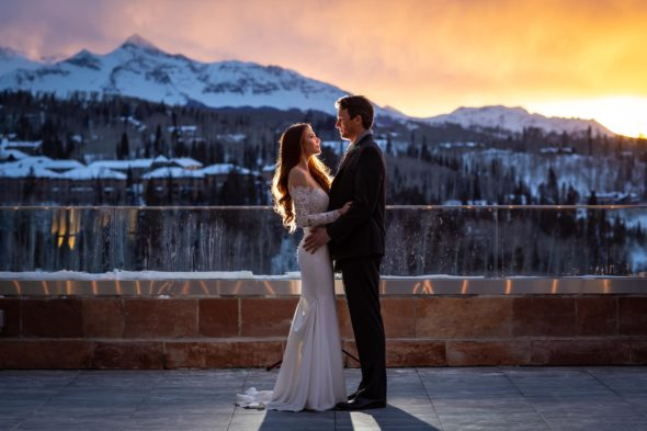 Kyle and Katana's winter wedding in Telluride, CO.