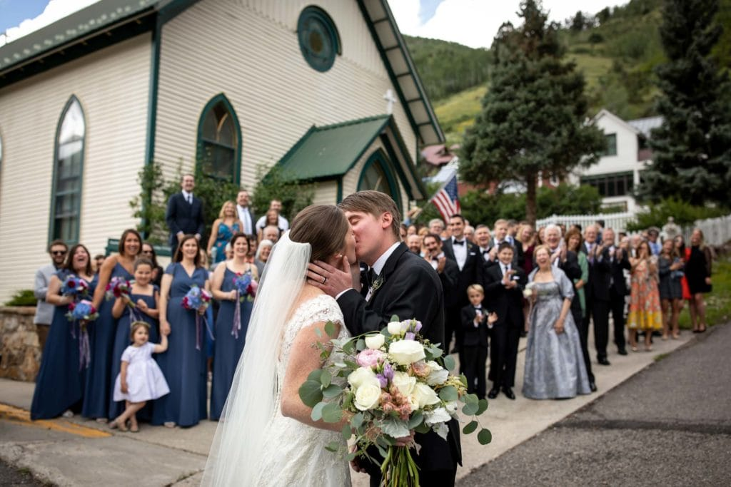 A wedding at the Peaks Resort in Telluride, CO