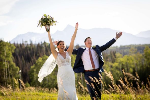 Katy and Clark's beautiful wedding at Gorrono Ranch at Telluride Ski Resort in Colorado. Image by Ben Eng.