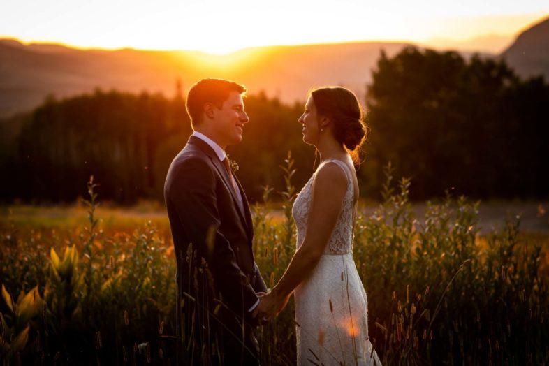 Katy and Clark's beautiful wedding at Gorrono Ranch at Telluride Ski Resort in Colorado. Image by Ben Eng.