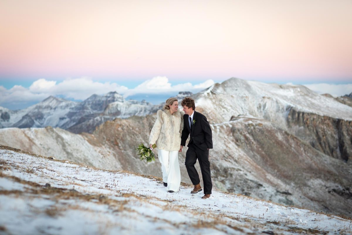 An awesome adventure elopement in the mountains by Telluride photographer Ben Eng