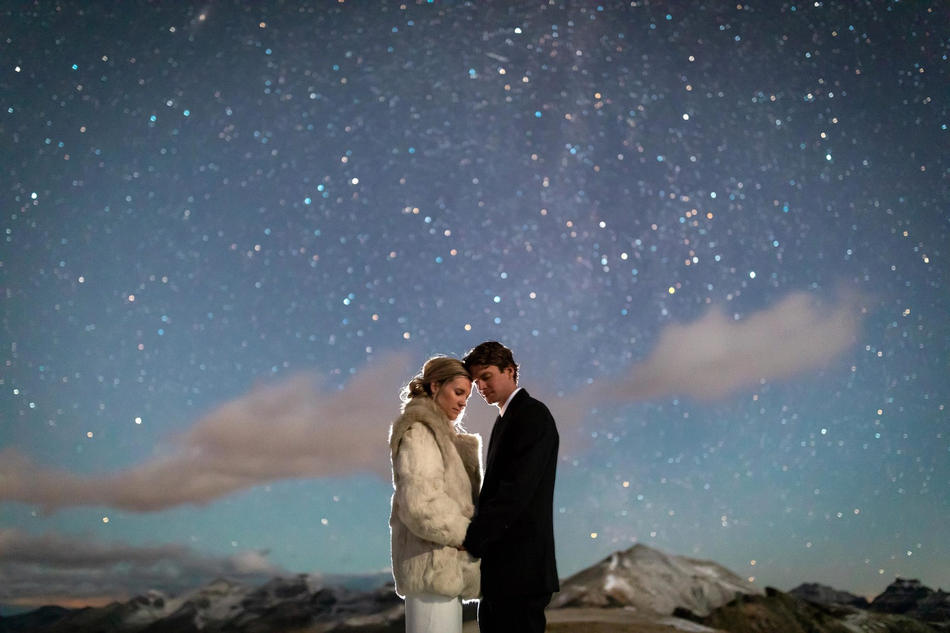A cold, 5am start for this couple adventure elopement in the mountains of Telluride, Colorado.