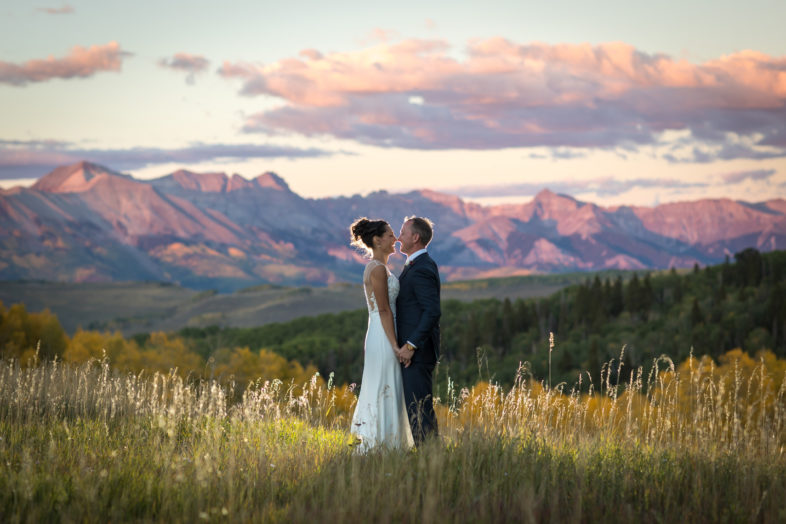 Telluride photographers documenting a Fall wedding at the Schmid Ranch